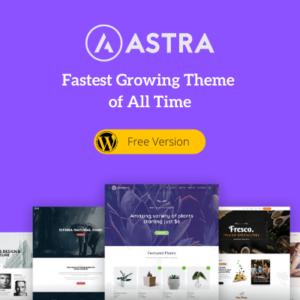 Astra free theme